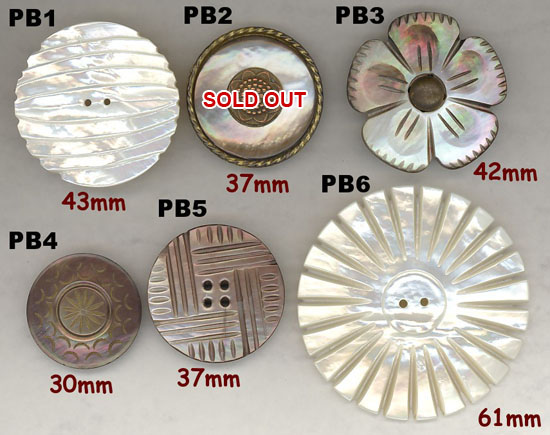 Pearl Buttons Antique Components