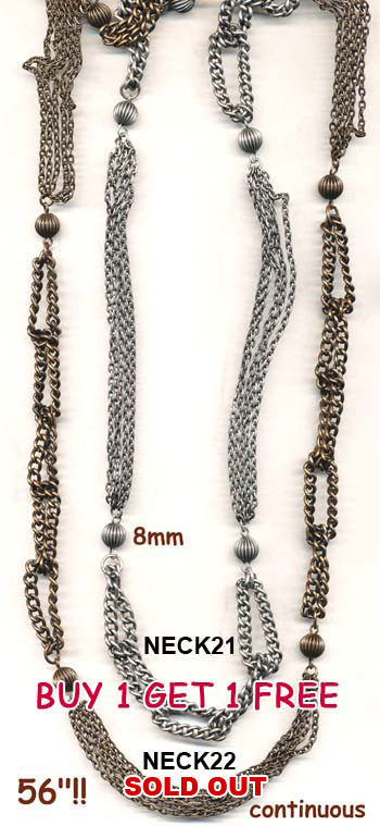 chain, necklace, belt, fab long vintage necklace, silver, bronze