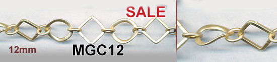 chains - link chains (soldered) round hammered 18mm - matte gtold