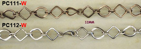 chain, fancy, link, novelty, cable, bronze, silver