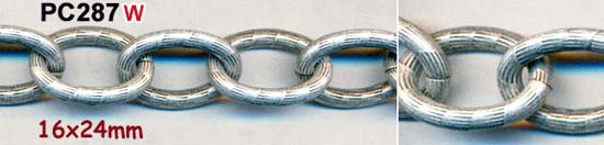chain, large textured heavy link, silver