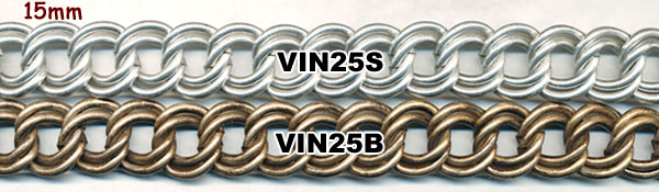 chain, novelty, vintage, limited supply, double curb, silver