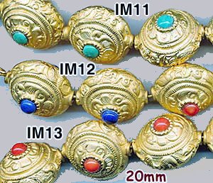 import, Nepal, handmade, lapis, turquoise, coral, bead, matte gold plated brass