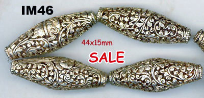 import, Nepal, handmade, tube, bead, gold plated copper