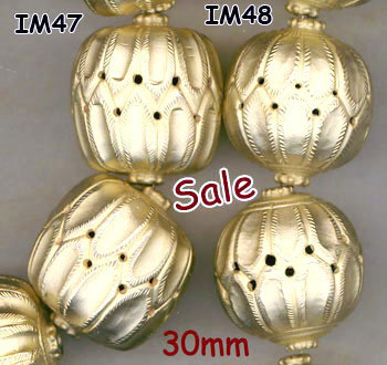 import, Nepal, handmade, balls, bead, gold plated brass