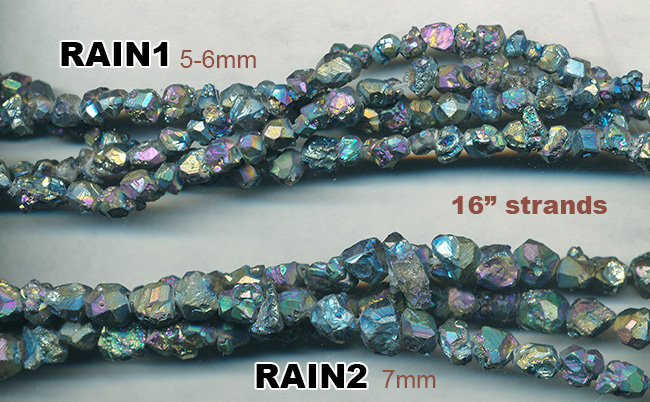 TRainbow Pyrite Strands
