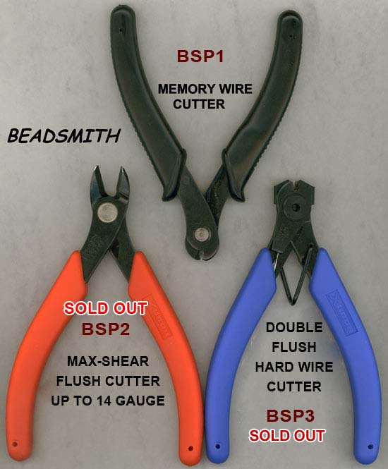 tools, pliers, beadsmith, hand cutter, memory wire, double flush, maxi shear